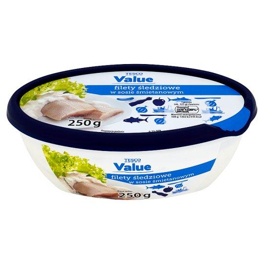 Tesco Value Filety śledziowe w sosie śmietanowym 250 g