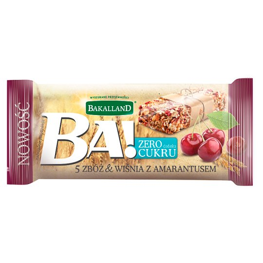 Bakalland Ba! 5 Cereal & Cherry with Amaranth Bar 30 g