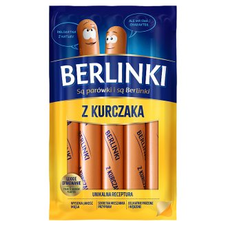 Morliny Berlinki Thin Sausages with Chicken 250 g