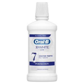 Oral-B 3D White Luxe Perfection Mouthwash 500 ml, Alcohol Free