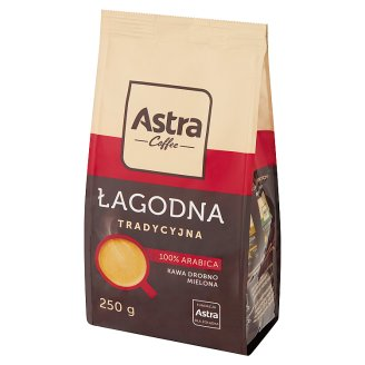 Astra Łagodna Delikatny smak Kawa drobno mielona 250 g