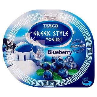 Tesco Jogurt naturalny typu greckiego z wsadem jagodowym 140 g