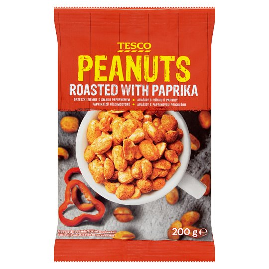 Tesco Roasted with Paprika Peanuts 200 g