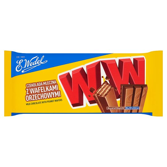 E. Wedel WW Milk Chocolate with Peanut Wafers 245 g