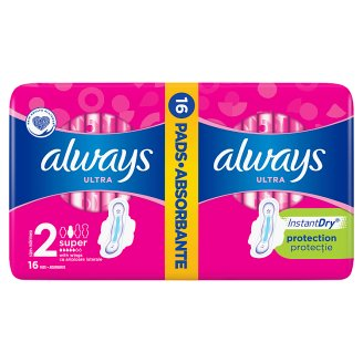 Always Ultra Long Plus Sanitary Pads with wings16x