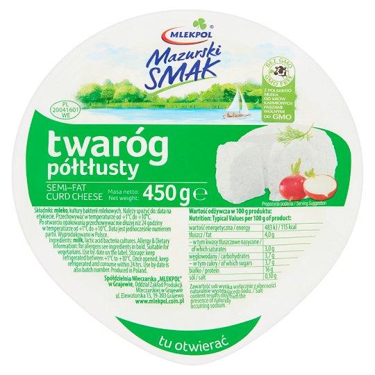 Mlekpol Mazurski Smak Semi-Fat Curd Cheese 450 g