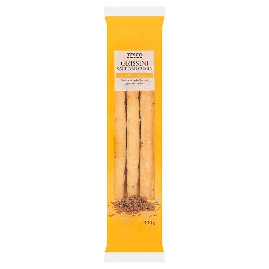 Tesco Grissini Salt and Cumin Bread Sticks 100 g