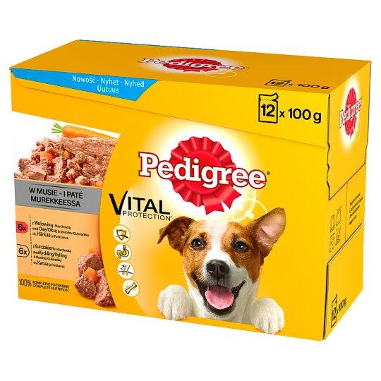Pedigree Vital Protection Complete Dog Food in Mousse 1.2 kg (12 x 100 g)