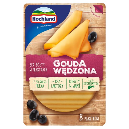 Hochland Smoked Gouda Sliced Cheese 135 g (8 Pieces)