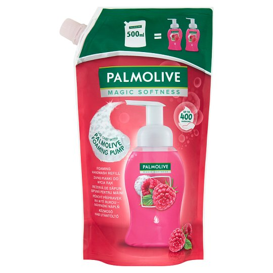 Palmolive Magic Softness Zapas do mydła w piance do rąk o zapachu malin 500 ml