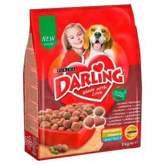 Darling with Beef and Added Selected Vegetables Complete Food for Adult Dogs 3 kg