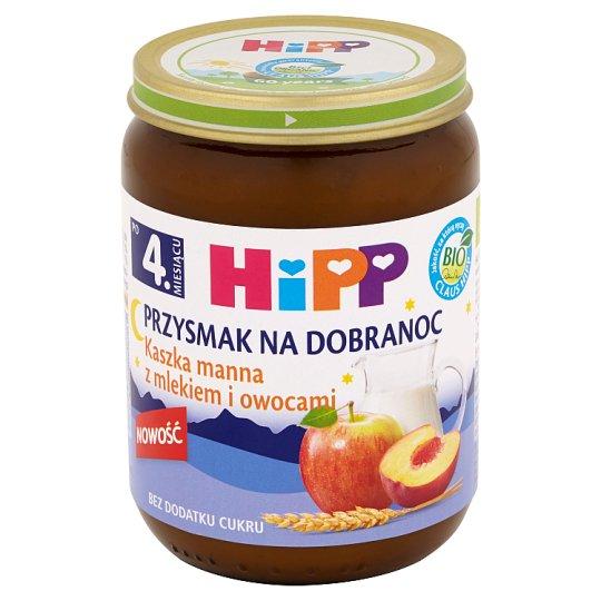 HiPP BIO Przysmak na Dobranoc Semolina with Milk and Fruits after 4. Months Onwards 190 g