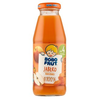 Bobo Frut Apple and Carrot after 4 Months Onwards 100% Juice 300 ml