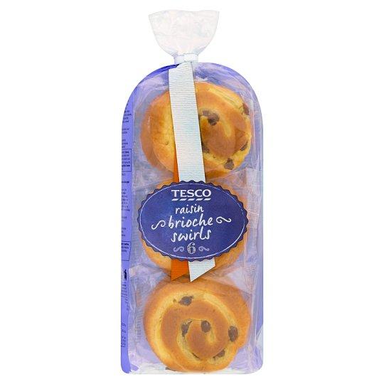 Tesco Raisin Brioche Swirls 270 g (6 Pieces)