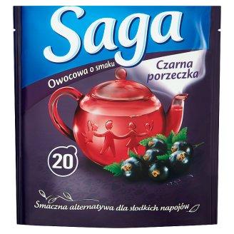 Saga Black Currant Flavour Fruit Tea 34 g (20 Tea Bags)