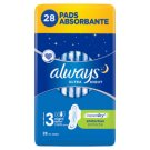 Always Ultra Night Sanitary Pads 28 Pieces