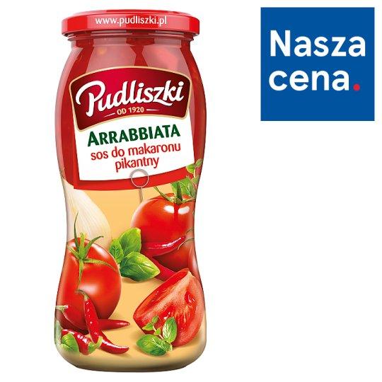 Pudliszki Hot Tomato Arrabbiata Sauce with Basil and Chilli Flakes 500 g