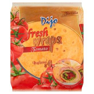 Dijo Tortilla Fresh Wraps Tomato 250 g (4 Pieces)