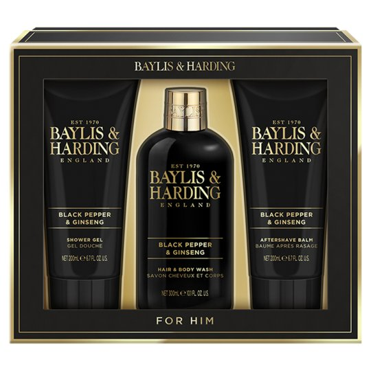 Baylis & Harding Men's Black Pepper & Ginseng Cosmetics Set