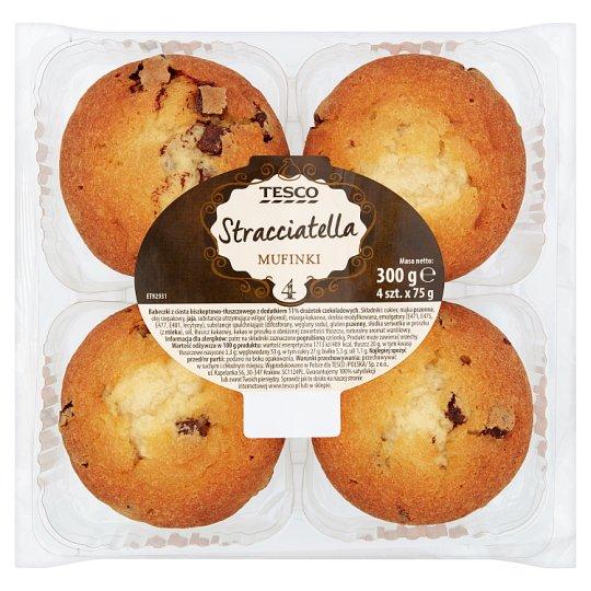 Tesco Stracciatella Muffins 300 g (4 Pieces)