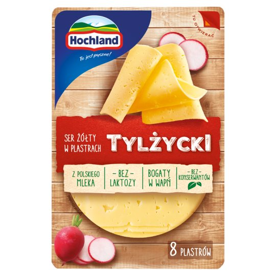 Hochland Tylżycki Sliced Cheese 135 g (8 Pieces)