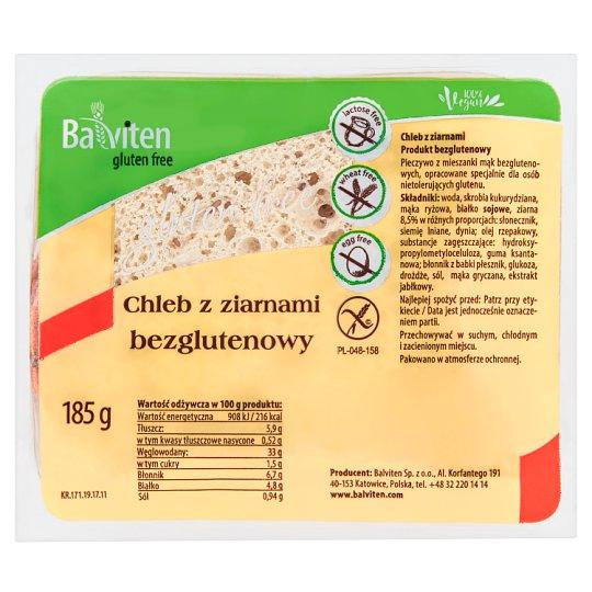 Balviten Chleb z ziarnami bezglutenowy 185 g