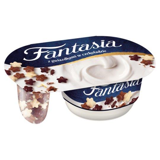 Danone Fantasia Creamy Yoghurt with Stars in Chocolate 106 g