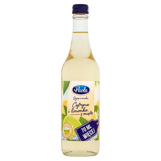 Paola Lemon & Lime with Mint Flavoured Syrup 500 ml