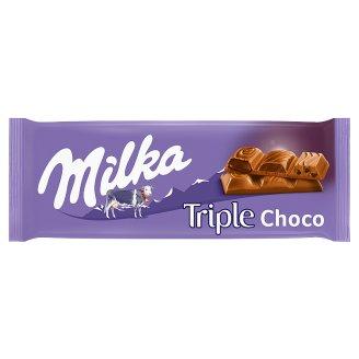 Milka Triple Choco Cocoa Alpine Milk Chocolate 90 g