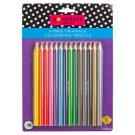 Tesco Go Create Jumbo Coloured Pencils 14 Pieces