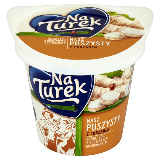 NaTurek Nasz Puszysty with Horseradish Fluffy Curd Cheese 140 g