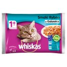 Whiskas 1+ Years Fish Flavors in Jelly Complete Cat Food 400 g (4 x 100 g)
