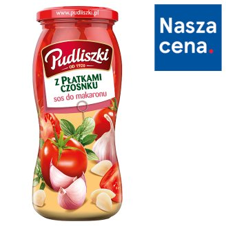 Pudliszki Tomato Sauce with Garlic Flakes 500 g