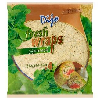 Dijo Tortilla Fresh Wraps Spinach 250 g (4 Pieces)