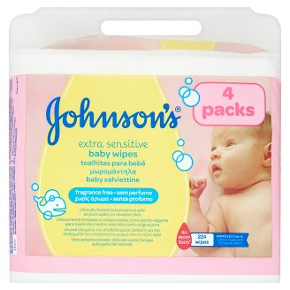 Johnson's Extra Sensitive Baby Wipes 224 Pieces