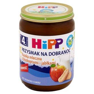HiPP BIO Przysmak na Dobranoc Milk Porridge with Biscuits and Apples after 4. Months Onwards 190 g