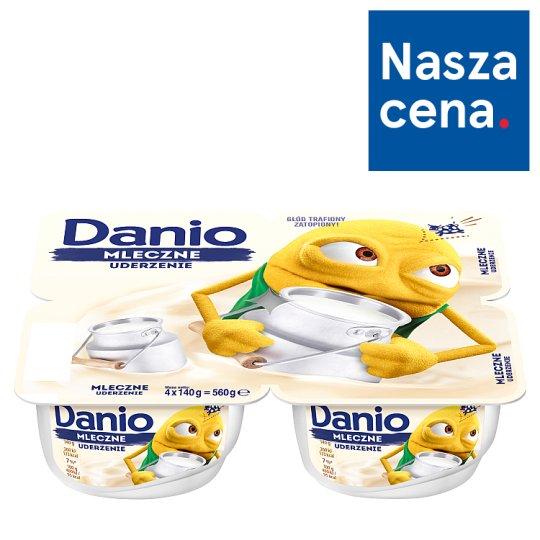 Danone Danio Białe Serek homogenizowany o smaku śmietankowym 560 g (4 sztuki)