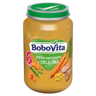 BoboVita Zupka warzywna z cielęciną po 6 miesiącu 190 g