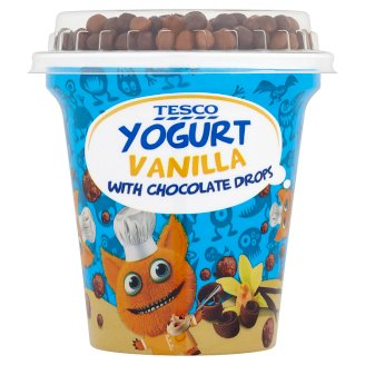 Tesco Yogurt Vanilla with Chocolate Drops 100 g + 7 g