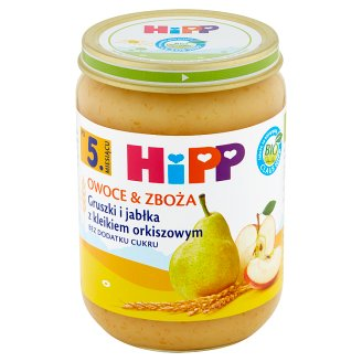 HiPP BIO Owoce & Zboża Pears and Apples with Spelt Gruel after 5. Months Onwards 190 g