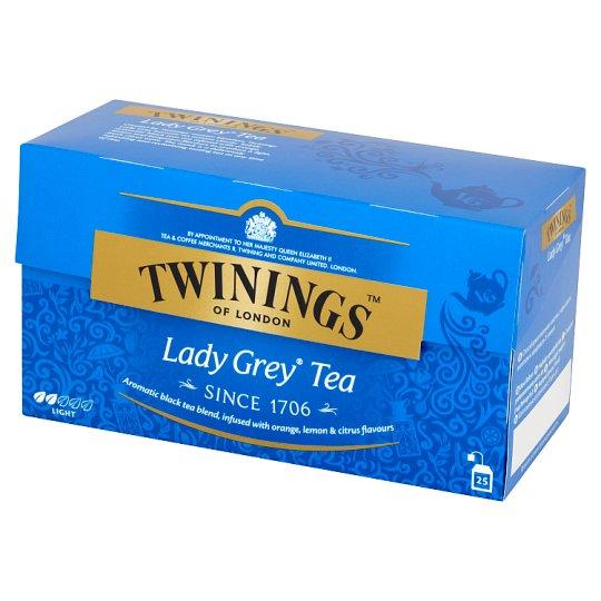 Twinings Lady Grey Czarna herbata z aromatem owoców cytrusowych 50 g (25 torebek)