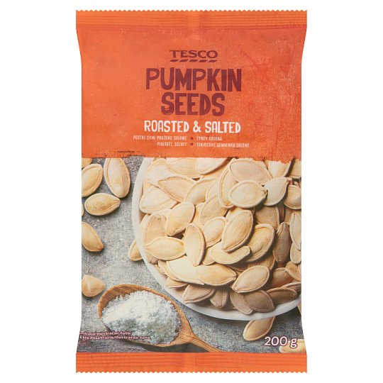 Tesco Roasted Salted Pumpkin Seeds 200 g