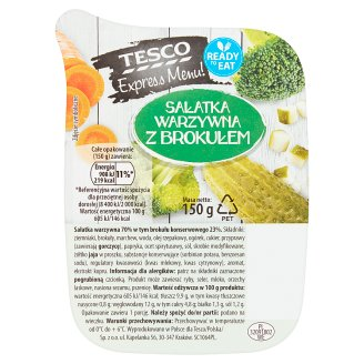 Tesco Express Menu! Vegetable Salad with Broccoli 150 g