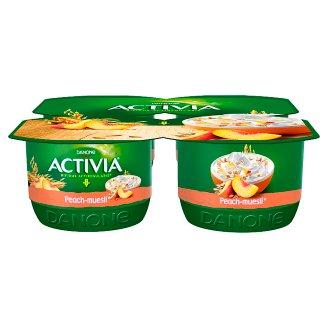 Danone Activia Peach Muesli Yoghurt 480 g (4 x 120)