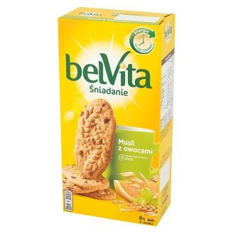 belVita Śniadanie Muesli with Fruits Wholemeal Cakes 300 g (6 x 4 Pieces)