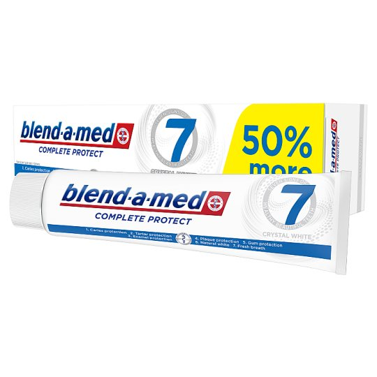 Blend-a-med Complete Protect 7 Crystal White Pasta do zębów 150 ml