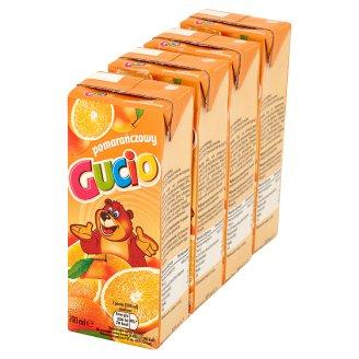 Gucio Napój pomarańczowy 4 x 200 ml