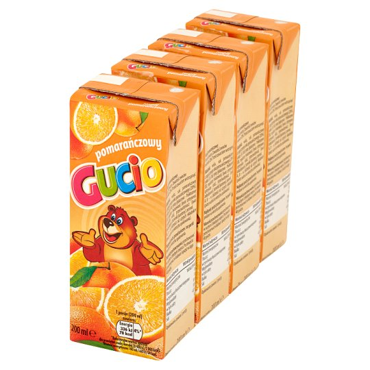 Gucio Orange Drink 4 x 200 ml