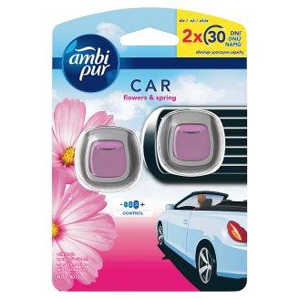 Ambi Pur Car Flowers & Spring Samochodowy odświeżacz powietrza z uchwytem, 2sztuki