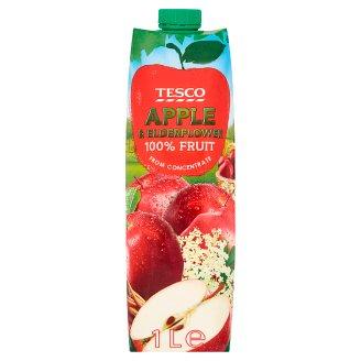 Tesco Napój jabłkowy z ekstraktem z kwiatu czarnego bzu 1 l